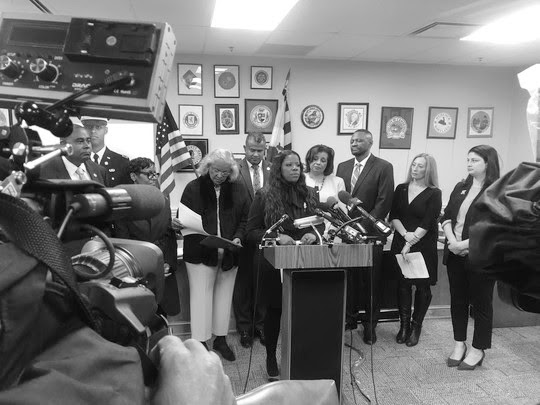 Prince George's County State's Attorney Aisha Braveboy at a press conference